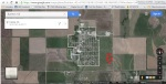 Red arrow points to Bushton-Farmer Township Cemetery